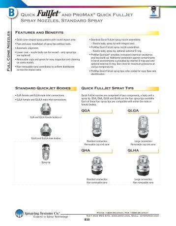 B10 - Quick FullJet Spray Nozzles - Spraying Systems Co.