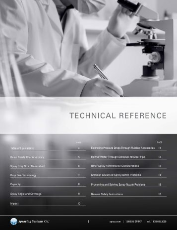 TECHNICAL REFERENCE - Spraying Systems Co.