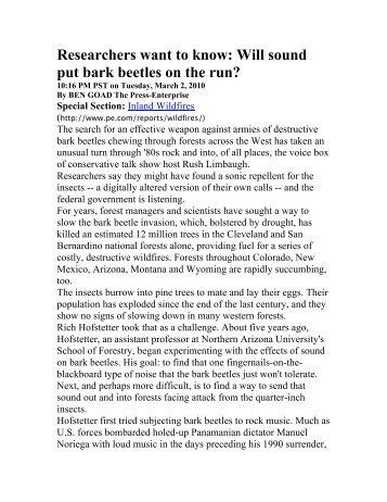 Bark Beetle Repellent