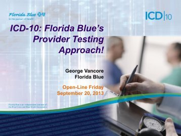 Provider Test Approach - Florida Blue