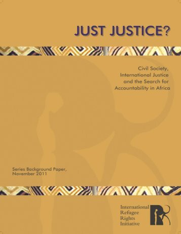 Just Justice? - International Refugee Rights Initiative