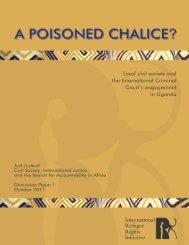 A Poisoned Chalice? - International Refugee Rights Initiative