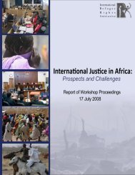 International Justice in Africa: Prospects and Challenges