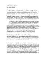 COMMUNIQUE DE PRESSE Pour diffusion immédiate Des prix ...