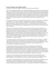 Soudan : Rhétorique contre réalité au Darfour Les exactions ...