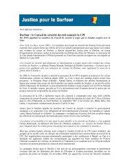 Darfour : le Conseil de sécurité devrait soutenir la CPI - International ...