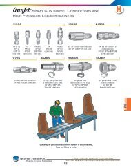 Spray Gun Swivel Connectors and High Pressure Liquid Strainers
