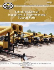 Scheduled/Special Inspections & Recommended Support Parts