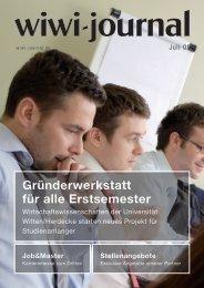 Gründerwerkstatt für alle Erstsemester - WiWi-Journal