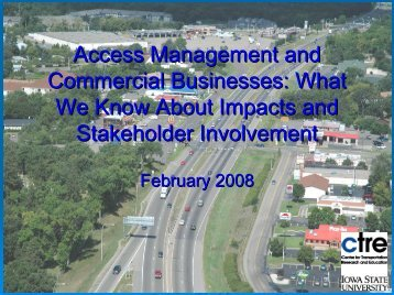 Access Management and Commercial Businesses: What We Know ...