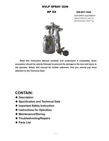 Parts List Descriptio