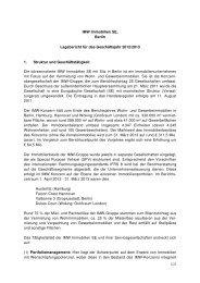 Lagebericht 2012/2013 - IMW Immobilien SE