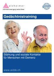 Gedächtnistraining für Menschen mit Demenz