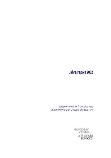 Jahresreport 2002 - ecfs