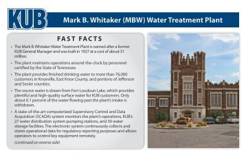 Mark B. Whitaker (MBW) Water Treatment Plant