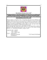 selected Valuer - Uttar Pradesh Tourism