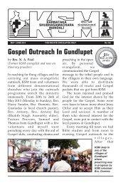Gospel Outreach In Gundlupet - Indien-Allianz-Mission