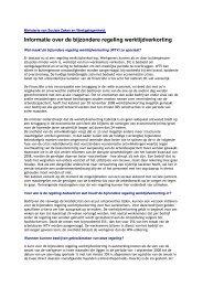 Informatie over de bijzondere regeling werktijdverkorting - Min SZW ...