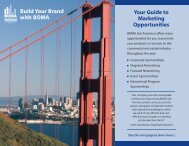 Your Guide to Marketing Opportunities Build Your Brand ... - BOMA SF