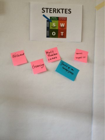 SWOT door deelnemers - Re-integratiePartner