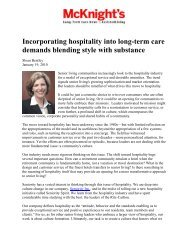 McKnight's Long-Term Care News & Assisted Living ... - Seniority Inc.