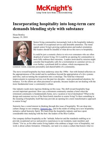 McKnight's Long-Term Care News & Assisted Living ... - Seniority Inc.