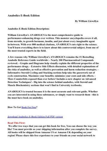 Anabolics E-Book Edition - PDF eBooks Free Download