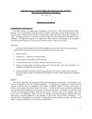 White Society By-laws, revised June 2012 - the William Alanson ...