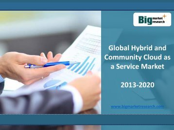 Global Hybrid and Community Cloud as a Service Market 2013-2020