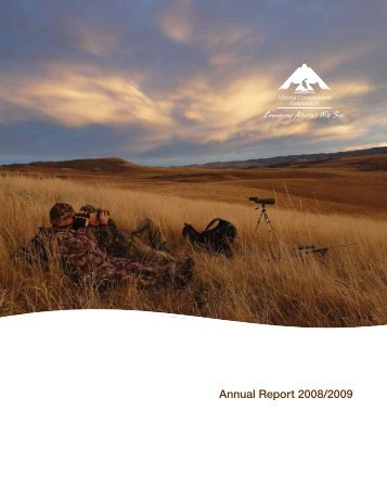 Annual Report 2008/2009 - Alberta Conservation Association