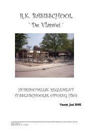 Huishoudelijk Reglement TSO - Basisschool De Vlaswei