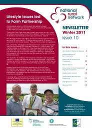 NRN Newsletter – Issue 10 – Winter 2011 - National Rural Network