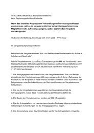 VERGABEKAMMER BADEN-WÜRTTEMBERG beim ...