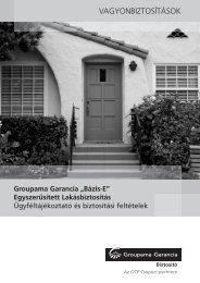 TeleSales lakásbiztosítás ügyféltájékoztató és ... - GroupamaDirekt