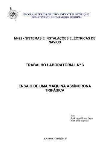 trabalho laboratorial nº 3 - Escola Superior Náutica Infante D ...