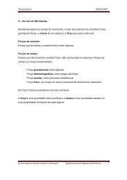 As leis do Movimento - Escola Superior Náutica Infante D. Henrique