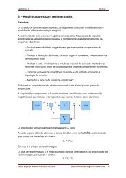 Amplificadores com realimentação - Escola Superior Náutica Infante ...