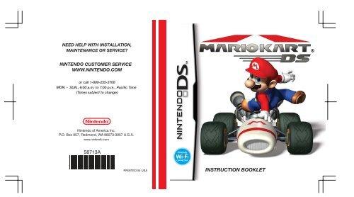 Mario Kart DS Game Manual - Nintendo