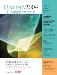 Diversity2004 Conference - Workforce Diversity Network