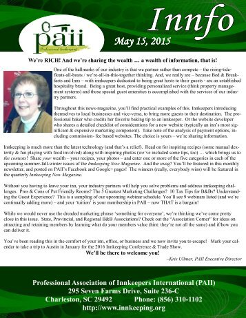 PAII Newsletter May 2015