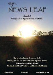 87 News Leaf - Biodynamic Agriculture Australia