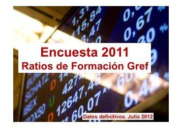 Informe Ratios de formación entidades financieras 2011 ... - Gref