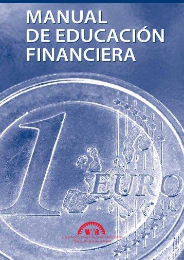 Manual de educación financiera. Publicado por la Fundación ... - Gref