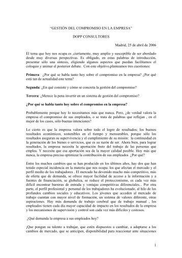 """1 """"GESTIÓN DEL COMPROMISO EN LA EMPRESA"""" DOPP ... - Gref"""