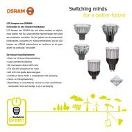 LED lampen van OSRAM: innovaties in een nieuwe ... - Switchtogreen