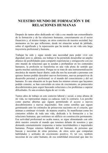 Nuestro mundo de formación y de relaciones humanas por ... - Gref