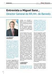 Entrevista a Miguel Sanz , Director General de RR.HH. de ... - Gref