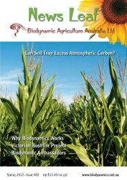 #92 News Leaf_News Leaf - Biodynamic Agriculture Australia