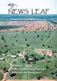 News Leaf 83:News Leaf - Biodynamic Agriculture Australia
