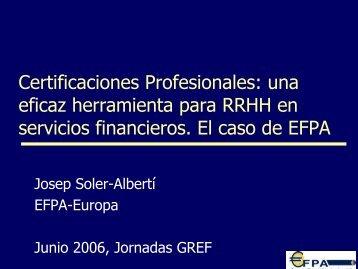 Certificaciones Profesionales: una eficaz herramienta para ... - Gref